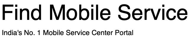 Find Mobile Service